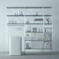 세면대에서 사용 - Unit Shelf | Compact Life | MUJI