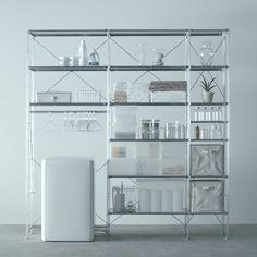 洗面で使う - Unit Shelf | Compact Life | 無印良品