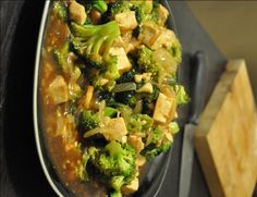 Broccoli and tofu in garlic sauce is a vegan and vegetarian Chinese-inspired entree that is easy to prepare.
