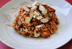 Brisando na Cozinha: Risoto de calabresa, tomate seco e pimentão