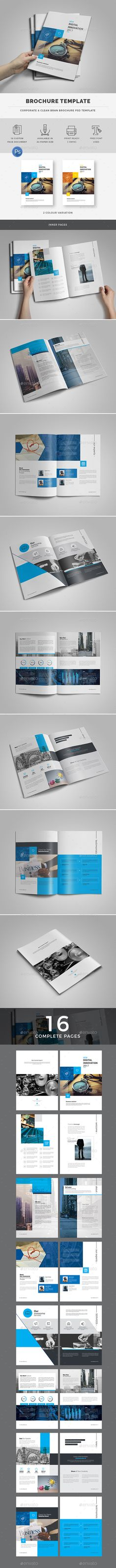 #Business #Brochure Template - Brochures Print #Templates Download here: https://graphicriver.net/item/business-brochure-template/18997046?ref=alena994