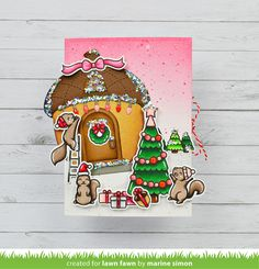 Lawn Fawn Video {9.15.20} A Pretty in Pink Holiday Shutter Card with Marine - Lawn Fawn