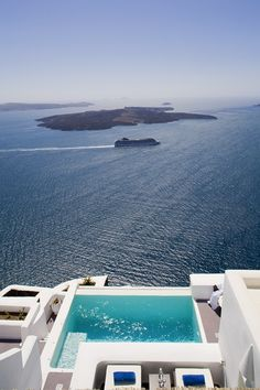 Santorini Greece. Yes, please.