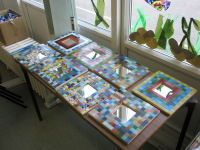 Mirrors completed in school mosaic workshop