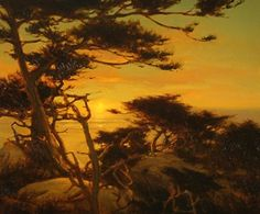 Sunset in Pt Lobos by Brian Blood - Oil