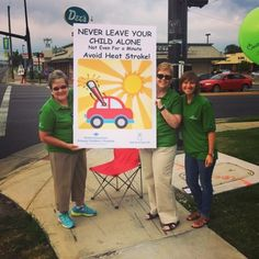 Our Safety Crew took to the streets this morning to remind motorists to never leave a child alone in the car! There have been 16 child deaths in the U.S. this year from heatstroke, and temperatures are only getting warmer. If you see a child alone in a car, dial 911. More info at: noheatstroke.org #noheatstroke