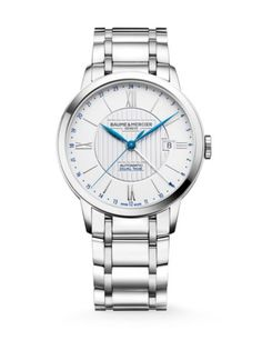 Baume & Mercier - Classima 10273 Dual Time Stainless Steel Bracelet Watch