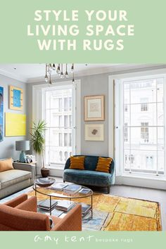 Style your home and your living room with a bespoke handmade rug from Amy Kent Bespoke Rugs. Many styles and desgins to choose from, they are can placed on any floor type including on carpet. This yellow handmade rugs adds a stunning splash of colour to your home.