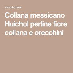 Collana messicano Huichol perline fiore collana e orecchini