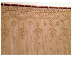 Macrame tenda, Macrame fibra, grande macrame, Macrame parete arte, ecrù macrame tenda.
