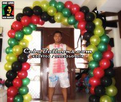 Balloon Arch (Rasta Theme)   Cebu Balloons and Party Supplies