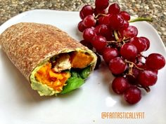 Ripped Recipes - Cucumber Spinach Hummus Wrap - This wrap take 5 minutes to put together and is so flavorful and delicious!