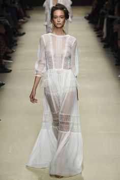 "Alberta Ferretti Spring 2016 #MFW  Inspired by the desert, Ferretti said ""I pictured a woman who lives in wide-open spaces, freeing her imagination, without any restrictions."""