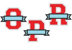 Check out this item in my Etsy shop https://www.etsy.com/listing/251718445/collegiate-varsity-split-letters-with