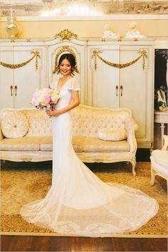 slinky wedding dress @weddingchicks
