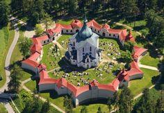 Igreja de Peregrinação de São João Nepomuceno - Zelená Hora - República Tcheca - Leste Europeu