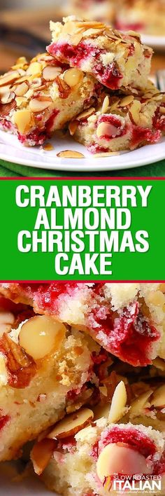 Cranberry Christmas Cake has only a handful of ingredients and comes together in a snap! A moist butter cake bursting with flavor it is is bursting out of this moist simple buttery cake it is truly the most perfect holiday cake.