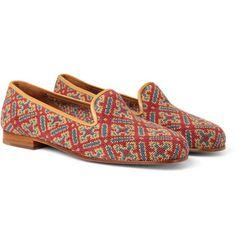 Stubbs & WoottonNeedlepoint Tapestry Slippers