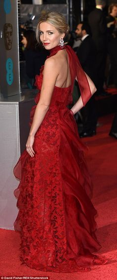 Red for Valentine's Day? Actress Annabelle Wallis - Chris Martin's girlfriend - went for a...