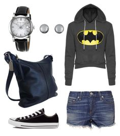 """""""Casual Batman"""" by dancingwdaleks on Polyvore featuring rag & bone, Converse, Coach, Kenneth Jay Lane and Burberry"""