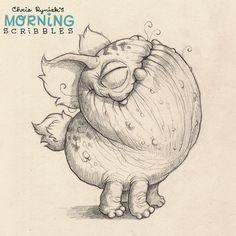 Morning stretch!  #morningscribbles