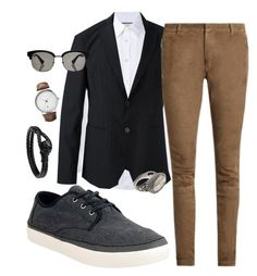 """""""homem"""" by jesycapiazentini ❤ liked on Polyvore featuring Gucci, Emporio Armani, Georg Jensen, Balmain, TOMS, men's fashion and menswear"""