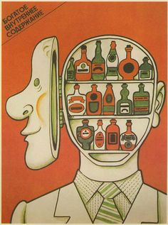 21 Vintage Soviet Union Anti-Alcohol Posters