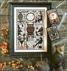 Ricami e schemi a Punto Croce gratuiti: Raccolta schemi a punto croce per Halloween (free printable halloween cross stitch patterns)