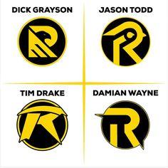 [Fan Art] Unique Robin Logo Designs by Barrett Brown.digital : DCcomics
