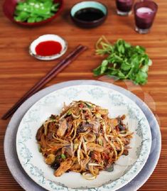 The recipe - Ching-He Huang Chinese Cooking.  Chilli Chicken Chow Mein