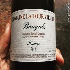 Domaine La Tour Vieille 2014 Banyuls Rimage (SRP $30 / 500ml):): Banyuls is a fortified, sweet wine produced at the southern edge of the Roussillon in southern France. This selection is a 'Banyuls Rimage,' meaning the fruit comes  ... Gerard Bertrand, Sweet Wine, Southern France, Wine Reviews, My Glass, Tour, Fruit, Bottle, Flask
