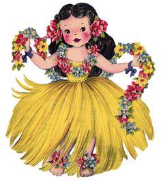 lollopop island, digital vintage images to purchase etsy. Hawaiian Dancers, Hawaiian Art, Hawaiian Crafts, Hawaiian Birthday, Hawaiian Theme, Vintage Pictures, Vintage Images, Kitsch, Skin Piercing
