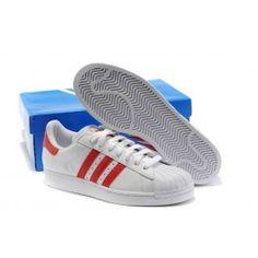 timeless design 2ee8f d2f69 Engros Adidas Superstar II Hvid Rød Unisex Skobutik  Køligt Adidas  Superstar II Skobutik  Adidas Skobutik Online  denmarksko.com