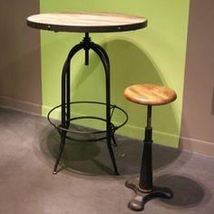 Table de bar - Mange debout en bois et métal Parnasse Hanjel