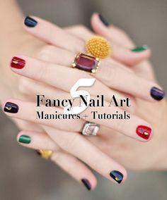 5 Fancy Nail Art Manicures + Tutorials