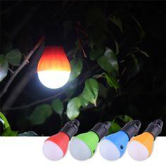 3 ledsポータブルledライト屋外キャンプテント吊りlantersランプぶら下げ釣りガーデンランプ電球サポート卸売