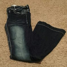 Modern Flare Denim Jeans Modern Flare dark blue denim!Size 28 or 5/6. Great for rocking the flare trend! Trademark H Jeans Flare & Wide Leg
