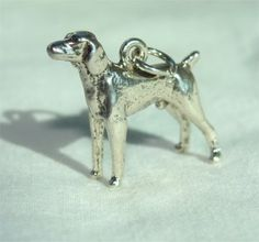 WEIMAR Dog 3 D Charm in STERLING Silver and FREE by CharmAndChain, $26.50