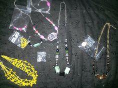 Mz.Succ3zz Unique Necklaces Homemade & Bracelets Set $25.00ea(Store Bought Yellow Necklace Set) $ 15.00