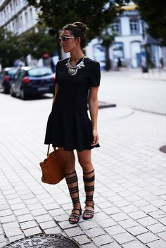 Vestido preto | Gladiadora | CasualChic | Verão