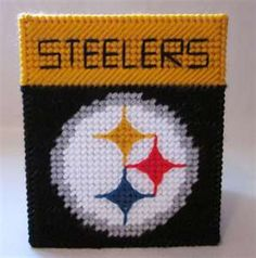 Pittsburgh Steelers tissue box cover in plastic canvas PATTERN