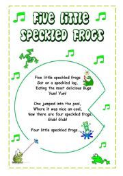 5 Little specked frogs craft