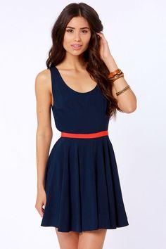 BB Dakota Royer Navy Blue Dress