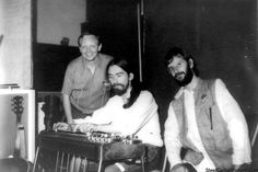 George, Ringo & Pete Drake during the sessions for All Things Must Pass