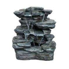 Garden Treasures Slate Rock Fountain. I really want this, but it's prob not going to happen at $100 :P
