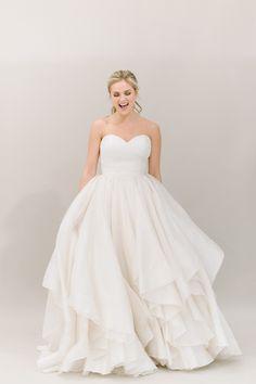 swishy ball gown by Heidi Elnora! | Divine Light Photography #wedding