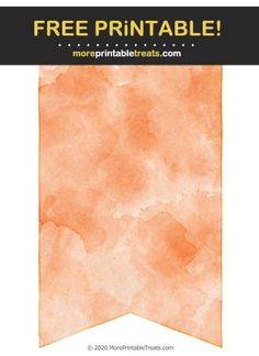Tiger Orange Watercolor Bunting Banner Cut Out