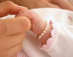 Check the way to make a special photo charms, and add it into your Pandora bracelets. Precious pearls on newborn....true southern belle