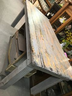 old  door  made into a table...
