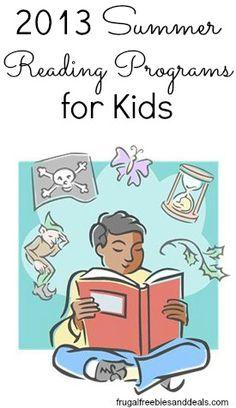 2013 Summer Reading Programs for Kids